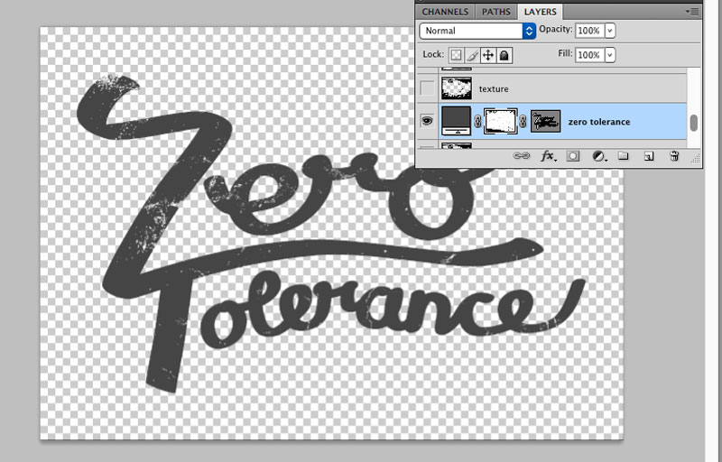 applying a texture as a layer mask in photoshop