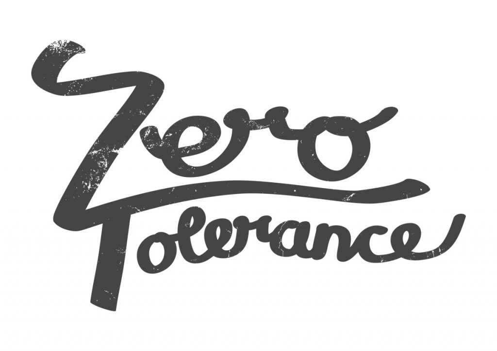 zero tolerance hand lettering artwork with texture